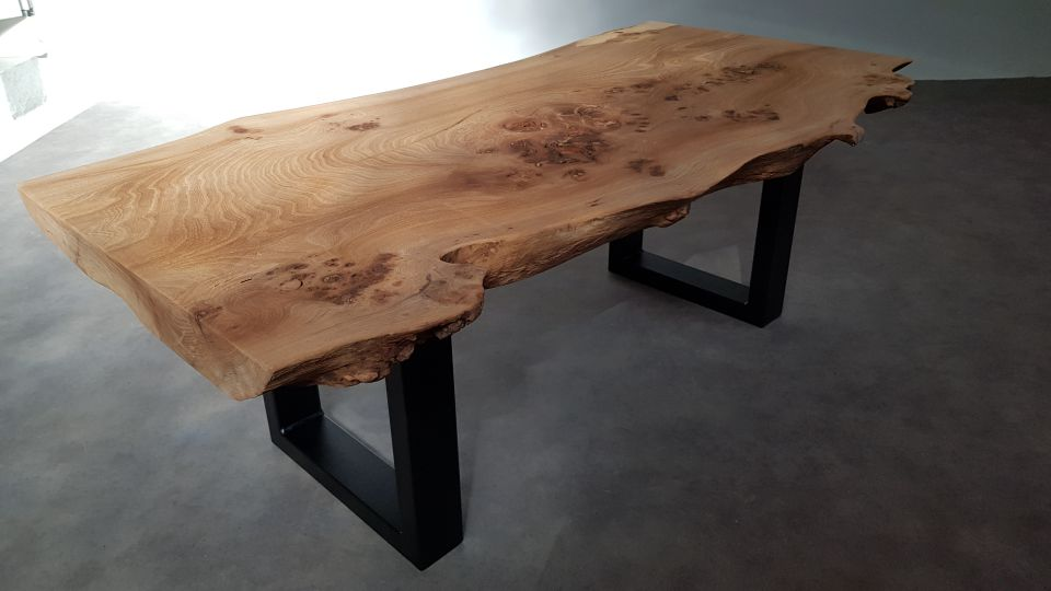 Table basse 120cm en orme massif